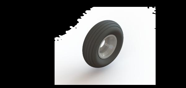 Mast Climber Wheel w/Tire 1