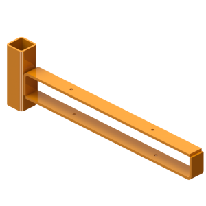 2 Plank Guard Post Adapter