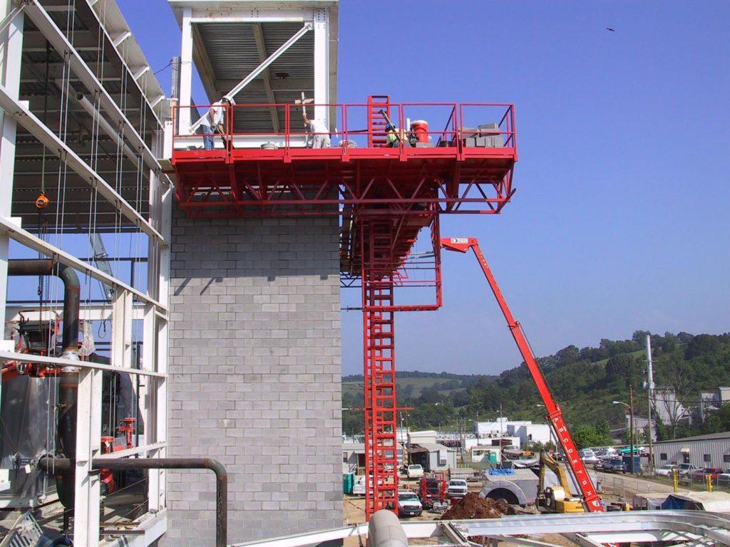 twin mast climber