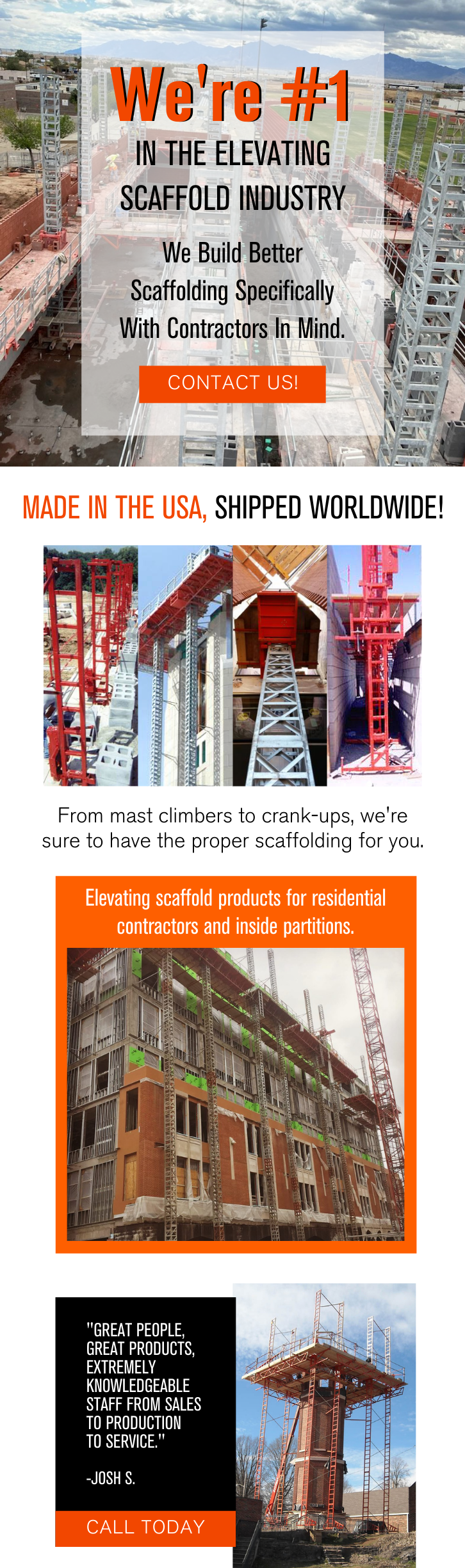 We're #1 In The Elevating Scaffold Industry 3